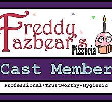 FNAF - Cast Member Badge by Lykoscarisma