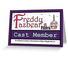 FNAF - Cast Member Badge Greeting Card