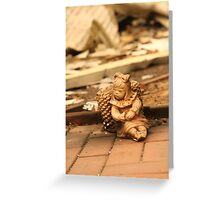 Burnt House Remains from Black Saturday Greeting Card