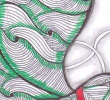 Flying Hummingbird Twisted Tangle Sticker