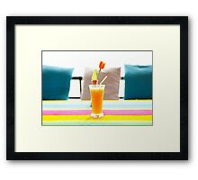 Fresh orange juice in Paradise Framed Print