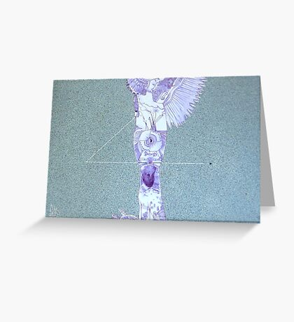 black star carry far Greeting Card