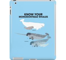 Know Your Monodontidae Whales iPad Case/Skin