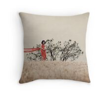 Expecting Beauty Throw Pillow