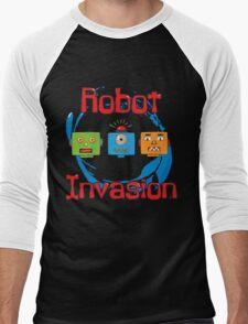 Robot Invasion Men's Baseball ¾ T-Shirt