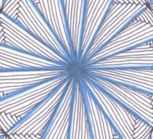 Blue Frozen Tangled Snowflake Sticker