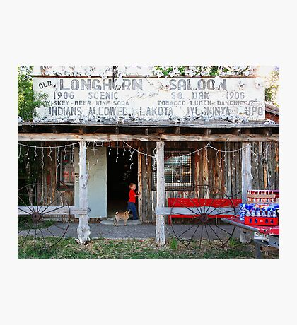 Longhorn Saloon Photographic Print