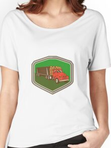 Truck Vintage Logging Shield Retro Women's Relaxed Fit T-Shirt