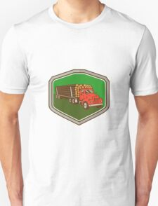 Truck Vintage Logging Shield Retro T-Shirt