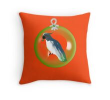 Aussi  X-mas  Cockatoo Card ( Red ) stock up! get ready for christmas ! Throw Pillow
