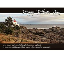 Father's Day Lighthouse - Religious Greeting Card for Grandfather Photographic Print