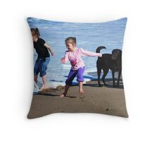 Girls having fun Throw Pillow