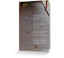 Damp Footprints Greeting Card