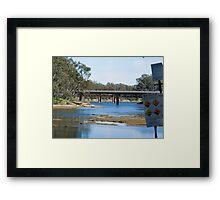 River crossings at Tocumwal ….  Framed Print