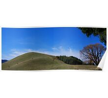Rolling Hills and Blue Sky Poster