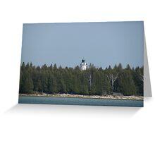 Island Lighthouse Greeting Card