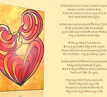 A Canvas Of My Love, My Heart, My Wife Greeting Card by taiche