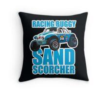 Sand Scorcher Racing Buggy Throw Pillow