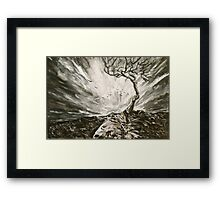 Tree in a Storm Framed Print