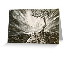 Baron Tree in a Storm Greeting Card