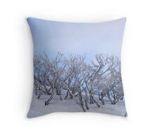 Snow Gums Throw Pillow