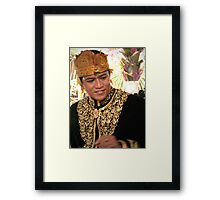 Bridegroom, Ubud, Bali, Indonesia Framed Print