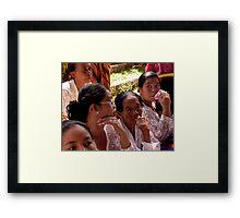Ubud Group of Ladies, Bali Framed Print