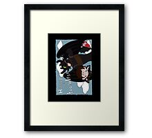 HICCUP & TOOTHLESS Framed Print