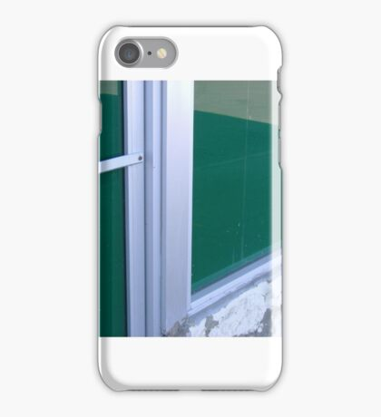 Green Windows, West Oakland Train Station iPhone Case/Skin