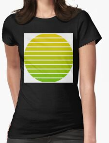 Gradient between Green and Yellow Womens Fitted T-Shirt