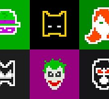 Retro Batman Heroes & Villains by daveypixel