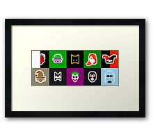 Retro Batman Heroes & Villains Framed Print