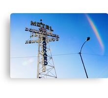 Flagstaff Motel Canvas Print