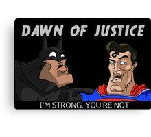 batman superman dawn of justice Canvas Print