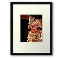 Baris Dancer, Ubud, Bali Framed Print