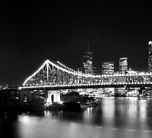 Story Bridge at Night by MarkusHoelzner