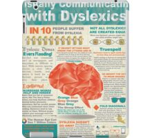 Visually Communicating with Dyslexics Infrographic iPad Case/Skin