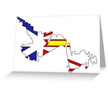 Newfoundland & Labrador Flag Map  Greeting Card