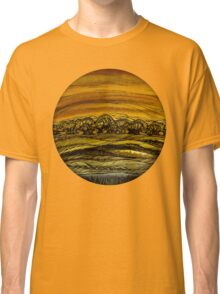 Fall.Hand draw  ink and pen, Watercolor, on textured paper Classic T-Shirt
