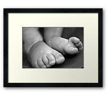 Childs Feet Framed Print
