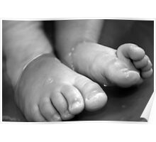 Childs Feet Poster