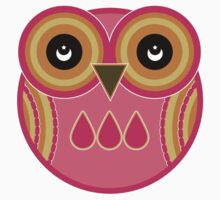 Pink Owl T-Shirt /  Pink Owl Sticker by Louise Parton