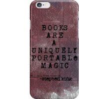 Books are a uniquely portable magic iPhone Case/Skin