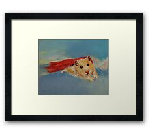 Flying Hamster Framed Print