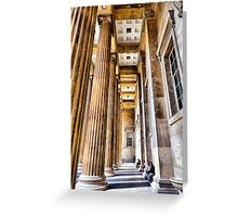 The Columns Greeting Card