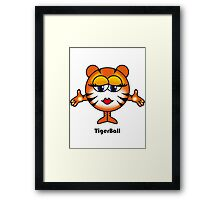 Tiger Ball Framed Print