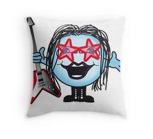 Rockstar Ball Throw Pillow