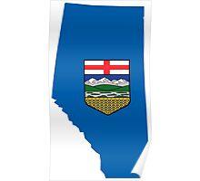 Alberta Flag Map Poster