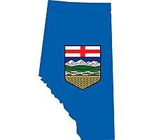 Alberta Flag Map Photographic Print