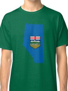 Alberta Flag Map Classic T-Shirt